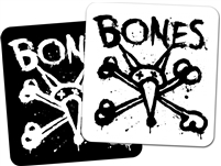 BONES WHEELS VATOS OP SQUARE STICKERS 2""