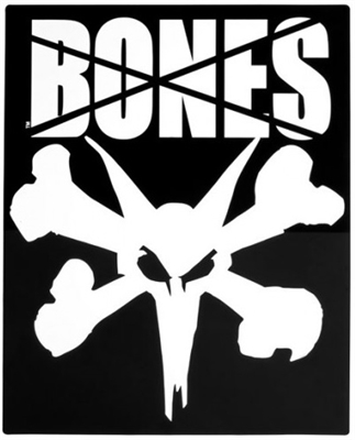 BONES WHEELS XLARGE RAMP STICKER - 16""