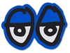 KROOKED MEDIUM STICKER - EYES DIECUT - BLUE