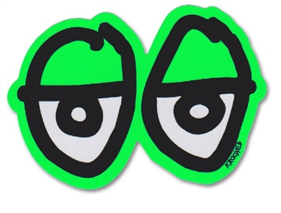 KROOKED MEDIUM STICKER - EYES DIECUT - GREEN