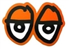 KROOKED MEDIUM STICKER - EYES DIECUT - ORANGE