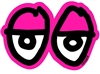 KROOKED MEDIUM STICKER - EYES DIECUT - PINK