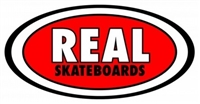 REAL MEDIUM STICKER - CLASSIC OVAL - RED