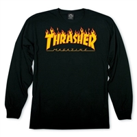 THRASHER FLAME LONGSLEEVE BLACK SMALL