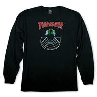 THRASHER DOUBLES LONGSLEEVE BLACK XL