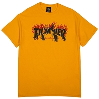 THRASHER CROWS T-SHIRT YELLOW MEDIUM