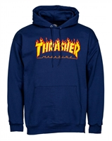 THRASHER FLAME HOODIE NAVY LARGE