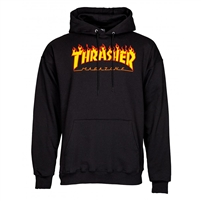 THRASHER FLAME HOODIE BLACK SMALL