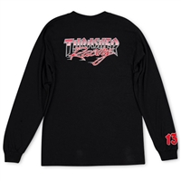 THRASHER RACING LONGSLEEVE BLACK MEDIUM