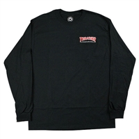 THRASHER OUTLINED EMB LONGSLEEVE BLACK LARGE