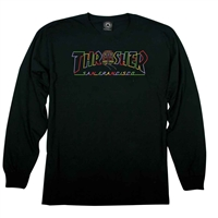 THRASHER CABLE CAR LONGSLEEVE BLACK SMALL
