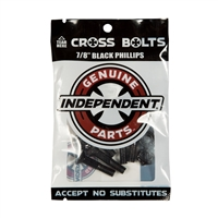 "INDEPENDENT TRUCKS CROSS BOLTS 7/8"" PHILLIPS BLACK"