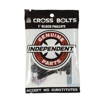 "INDEPENDENT TRUCKS CROSS BOLTS 1"" PHILLIPS BLACK"