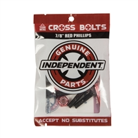 "INDEPENDENT TRUCKS BOLTS 7/8"" PHILLIPS BLACK/RED"