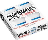BONES HARDCORE BUSHINGS SOFT WHITE/BLUE 81A + WASHERS