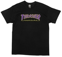 THRASHER OUTLINED BLACK/PURPLE SMALL
