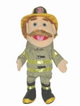 Firefighter Fireman Puppet White