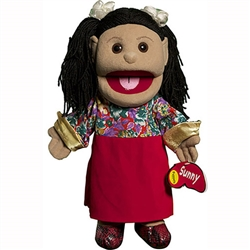 Hispanic Girl w/ Red Skirt Puppet
