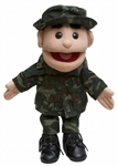 Army Boy Brown Eyes Puppet