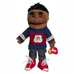 Black Boy w/ Cornrows Puppet