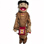 "American Indian Boy Puppet  (28"")"