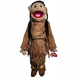"American Indian Girl Puppet, Brown Costume (28"")"