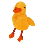 Yellow Duckling Finger Puppet