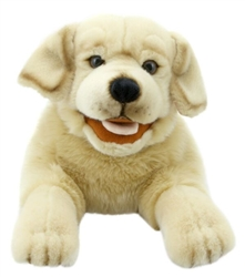 Yellow Labrador Dog Puppet