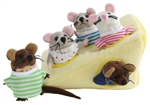 Mouse Family in Cheese