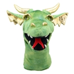 Large Green Dragon Head Puppet