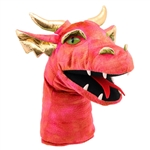 Large Red Dragon Head Puppet
