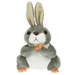 Grey Rabbit Finger Puppet