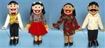 Hispanic Family Puppets Set