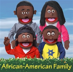 African-American Puppets Set