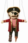 Pirate w/ Peg Leg Marionette