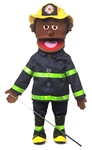 Fireman (Black) - Full Body Puppet