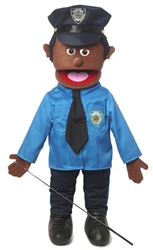 Policeman (Black) - Full Body Puppet