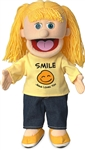 Smile Jesus Loves You Girl Hand Puppet