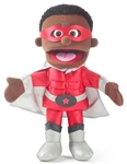 Superhero Black Boy Hand Puppet