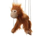 Brown Monkey Marionette Small
