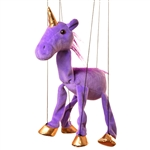 Purple Unicorn Marionette Small