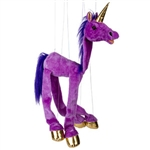Purple Unicorn Marionette