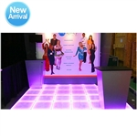 10x10 LED Custom Colored Technofloor