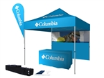 10' Dye Sub Tent with Wall + Flag + Table Cover