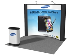 10' Curved Pop Up Display Fabric End Panels