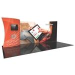 20ft Formulate Designer Fabric Backwall Kit 13 with two Monitors