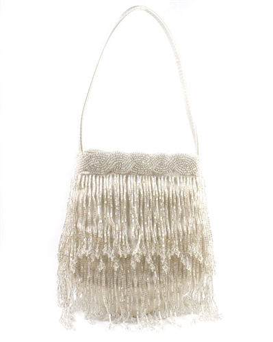 Menbur Ivory Beaded Evening Bag
