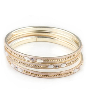 Set of Three Gold Bangles by Farfallina