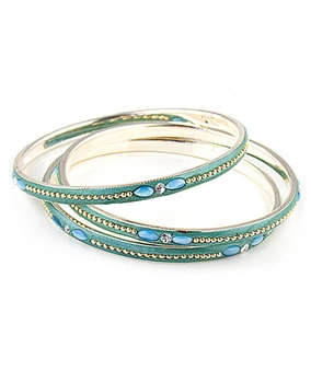 Set of Three Green Bangles by Farfallina