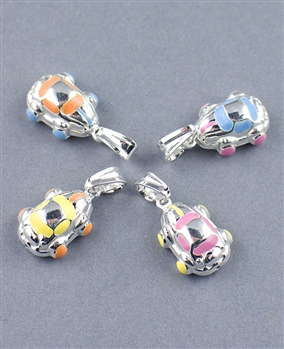 Sterling Silver Enamel Car Charm